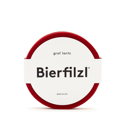 Graf & Lantz, Bierfilzl Round Felt Coaster - solid color, Red- Placewares
