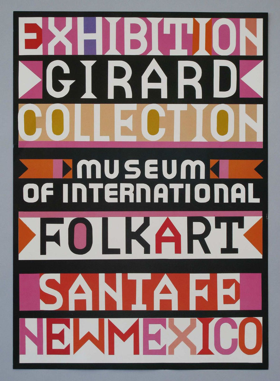 Vintage @ Placewares, Original 1982 Alexander Girard Poster - International Folk Art Museum, Santa Fe, - Placewares