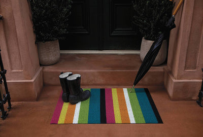 Chilewich, Bold Stripe Shag, Doormat - multiple colors, - Placewares