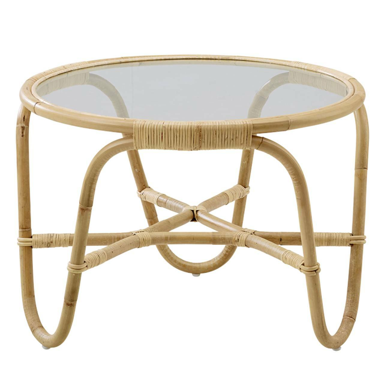 Sika, Charlottenborg Table w/ Inserted Glass, Natural Skin On- Placewares