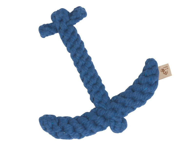 Jax & Bones, Anchor Dog Rope Toy, Blue- Placewares