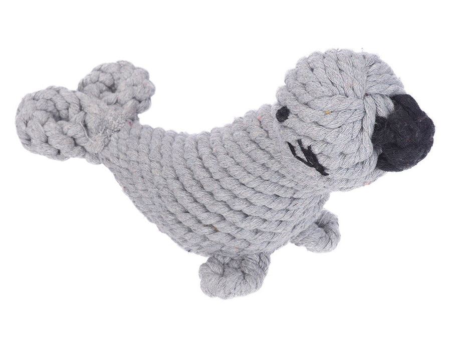 Jax & Bones, Sidney the Seal Dog Rope Toy, - Placewares