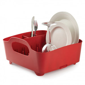 Umbra, Tub Dish Rack - multiple colors, Red- Placewares