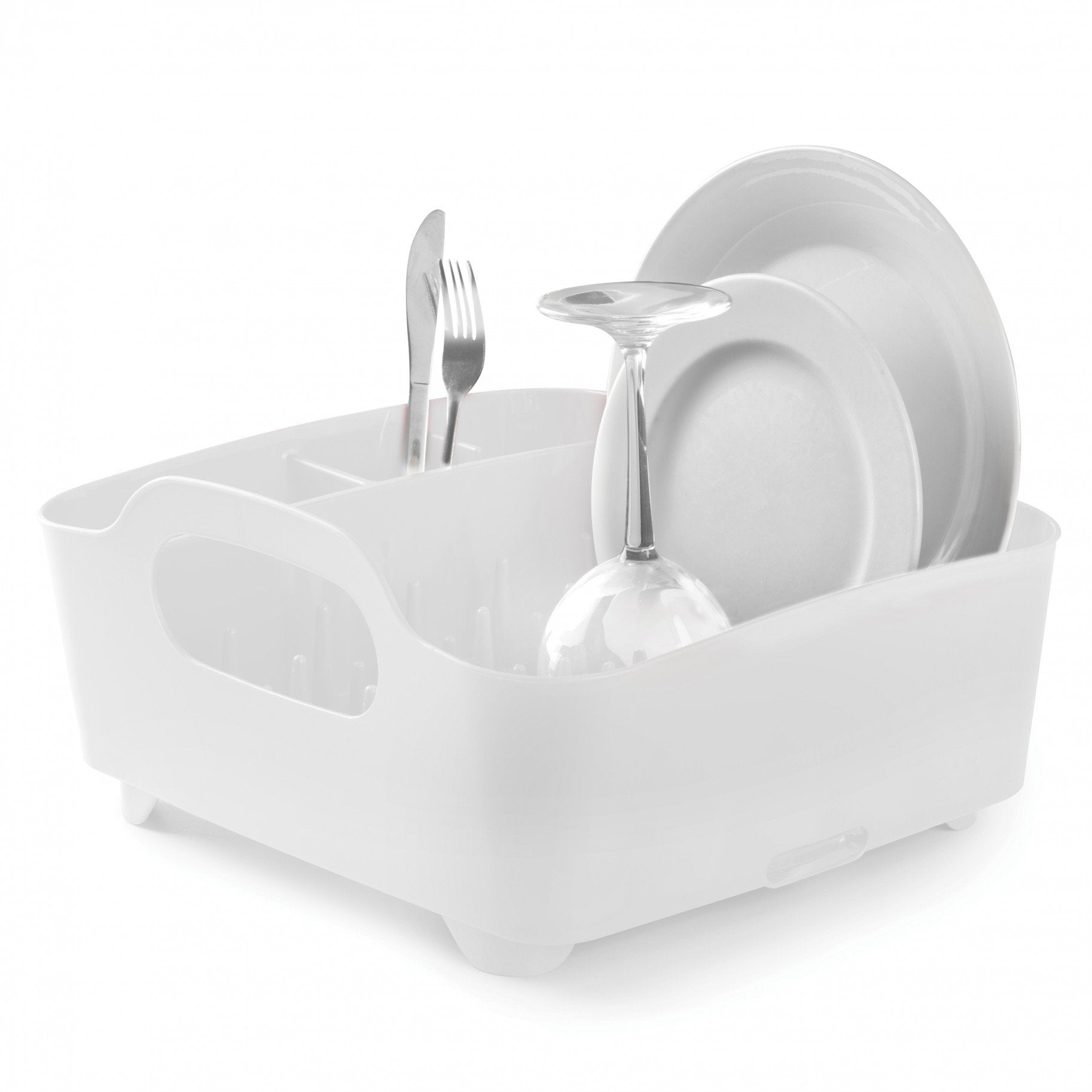Umbra, Tub Dish Rack, assorted colors, White- Placewares