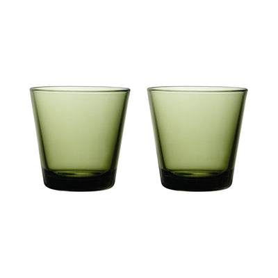 Iittala, Kartio Tumbler,  Set of 2, assorted colors, Moss Green- Placewares