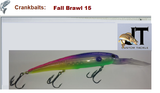 JT Custom Bandits and Husky Jerks (Lures shown are for color identification)