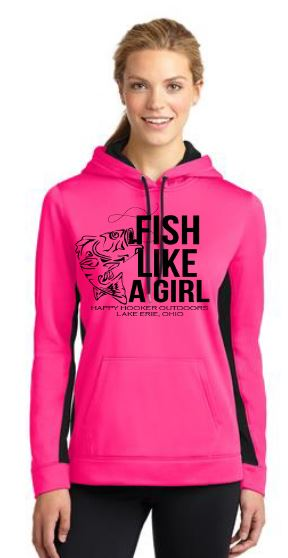 "Ladies ""Fish Like a Girl"" Pro Hoodie"