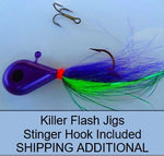 Walleye Killer Flash Jigs (Full Cards) by Taylor Fishing Tackle Colors 281~297