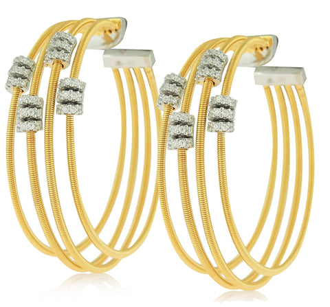 Precieuse Large Hoop Earring - Angelique de Paris