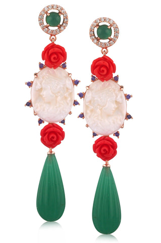 Principessa Cameo Earring - Angelique de Paris