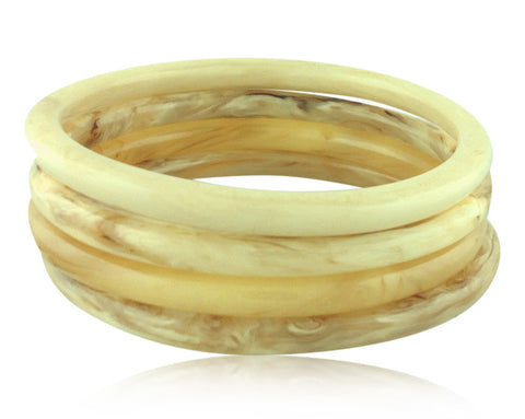 Set of Four Bangles - Angelique de Paris - 1