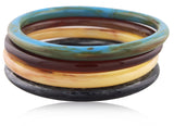 Set of Four Red Carpet Bangles - Angelique de Paris - 2
