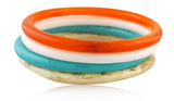 Set of Four Red Carpet Bangles - Angelique de Paris - 1