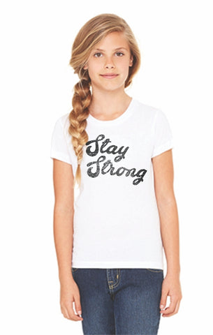 White 'Stay Strong' Toddler Tee