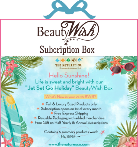 "Monthly Subscription from May  ""Jet Set Go Holiday"" BeautyWish Box"