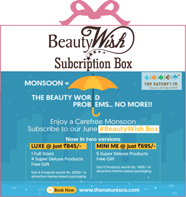 Monthly Subscription from  June'19 The Beauty World Problems  No More LUXE  BeautyWish Box