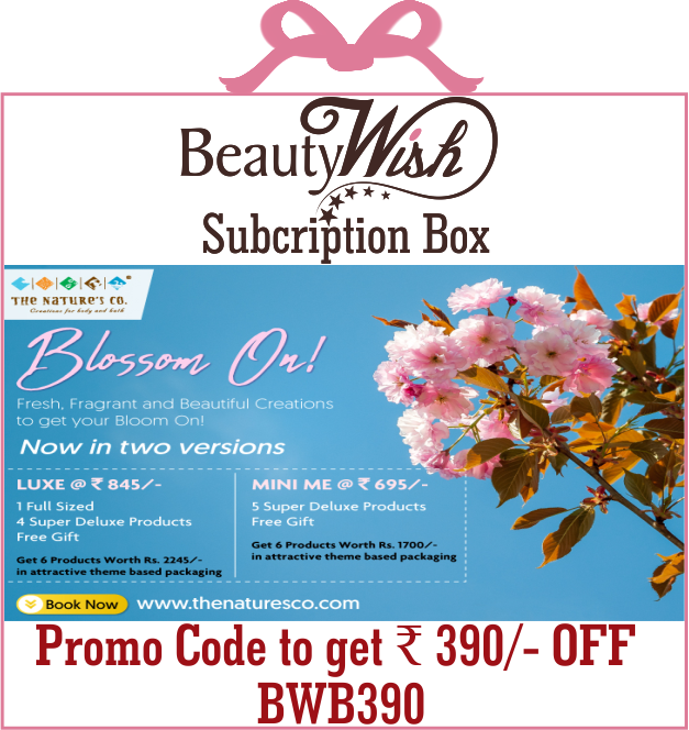 "Quarterly Subscription from  April'19 ""Blossom On""  LUXE  BeautyWish Box"
