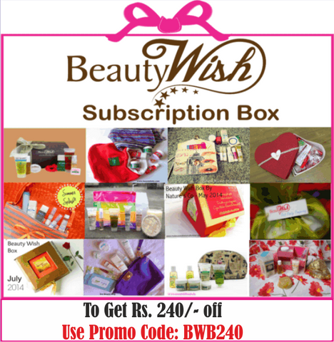 "Quarterly Subscription from June ""Smile while it Rains"" BeautyWish Box"