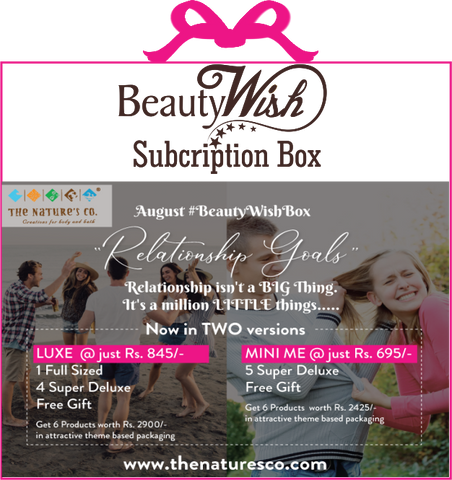 "Monthly Subscription from August '19 ""Relationship Goals""  MINI ME  #BeautyWishBox"