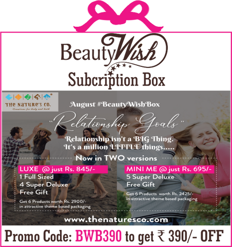 "Quarterly  Subscription from August '19 ""Relationship Goals""  LUXE  #BeautyWishBox"