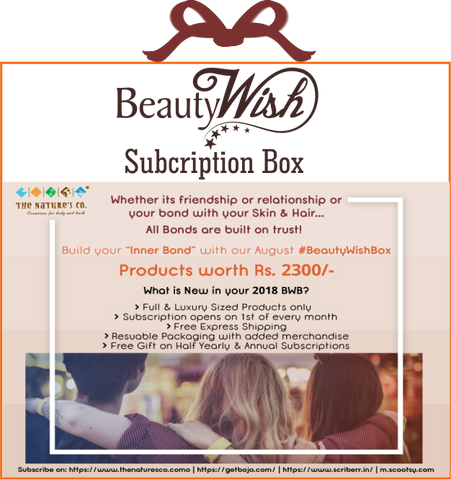 "Monthly Subscription from August ""Inner Bond"" BeautyWish Box"