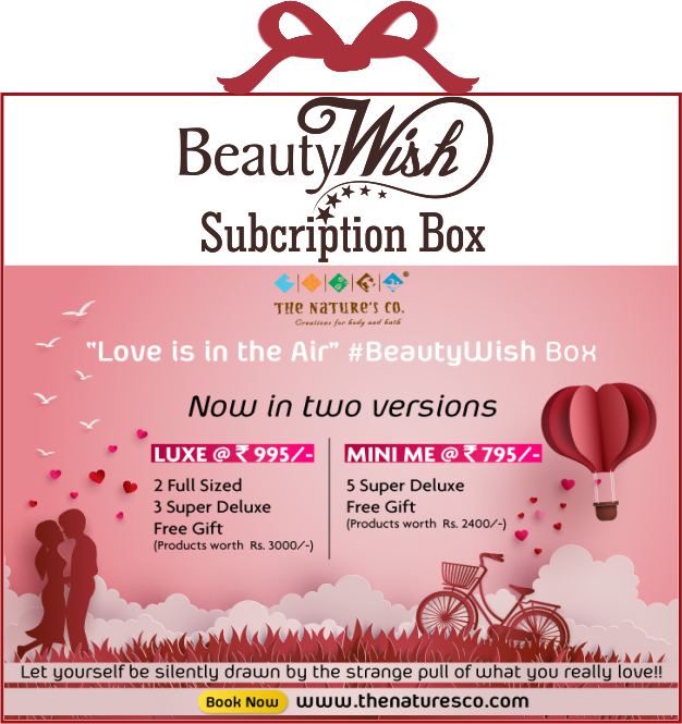 "Monthly Subscription from February 2019 ""Love is in the Air"" LUXE  BeautyWish Box"