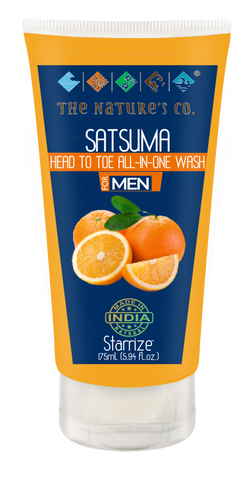 SATSUMA HEAD TO TOE ALL- IN-ONE WASH FOR MEN (175 ml)