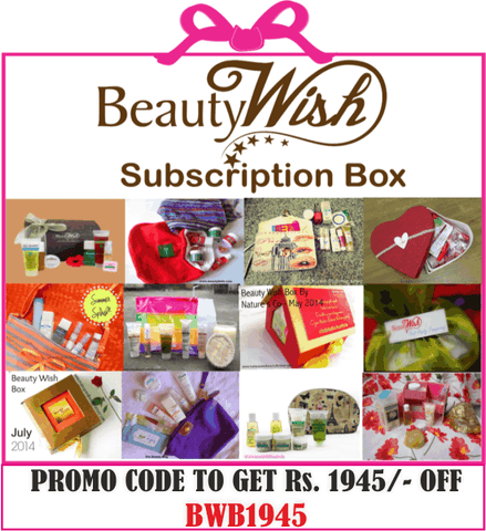 "Annual Subscription from  November ""Rejuvenate Yourself""  BeautyWish Box"