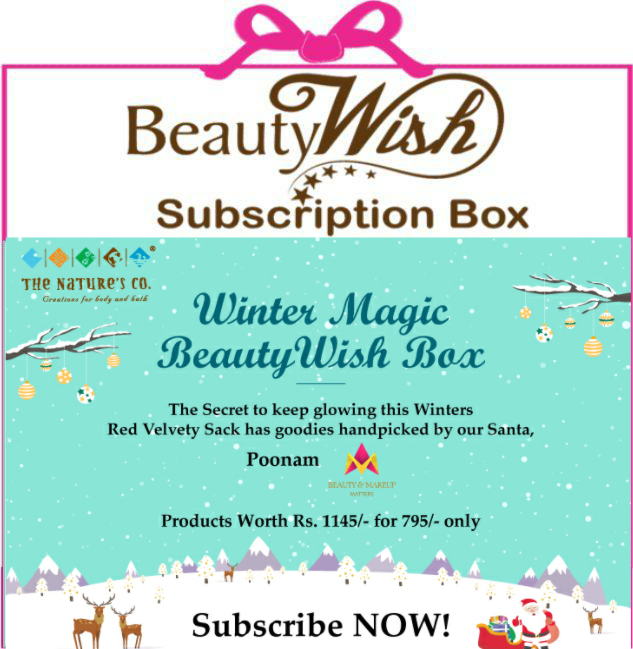 "Monthly Subscription from Nov-Dec ""Winter Magic"" Beauty Wish Box"