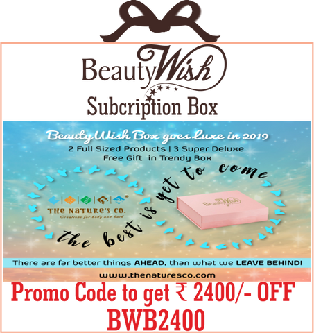 "Annual Subscription from January 2019 ""The best is yet to come"" LUXE BeautyWish Box"