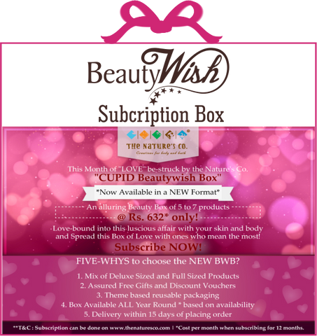 "Monthly Subscription -February'17  ""Cupid"" BeautyWish Box"