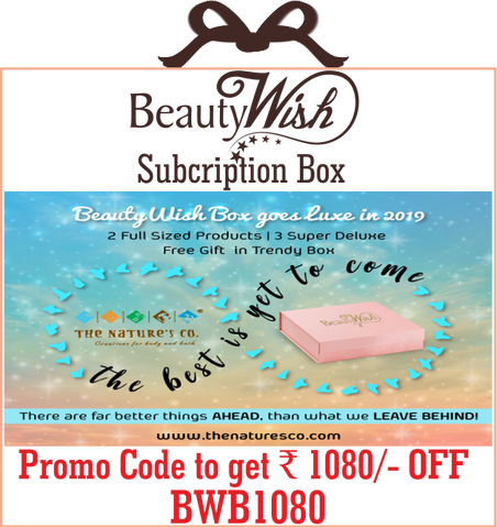 "Half Yearly Subscription from January 2019 ""The best is yet to come"" LUXE BeautyWish Box"