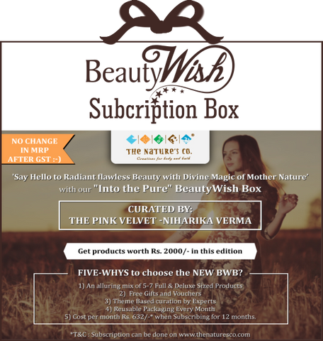 "Monthly Subscription from July  ""Into the Pure"" BeautyWish Box"
