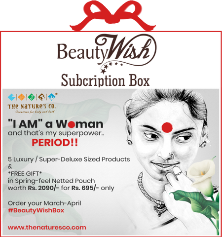 "Monthly Subscription from March-April 2020 ""I AM"" a Woman and that's my Superpower  #BeautyWishBox"