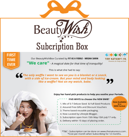 "Monthly Subscription from May ""We care BeautyWish Box"""