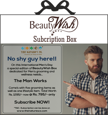 "Monthly Subscription from November  ""The Man Works"" BeautyWish Box"