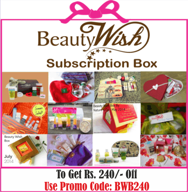 "Quarterly Subscription from  June  ""No more  #JinxMonsoon"" BeautyWish Box"