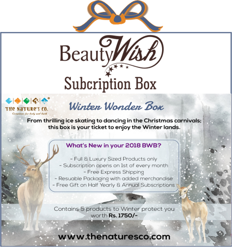 "Monthly Subscription from December ""Winter Wonder"" BeautyWish Box"