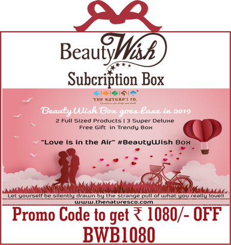 "Half Yearly Subscription from February 2019 ""Love is in the Air""  LUXE BeautyWish Box"