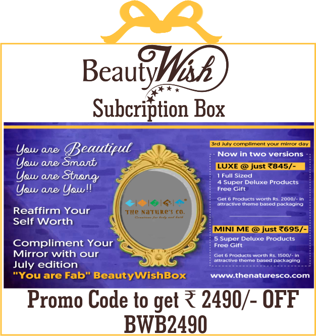 "Annual Subscription from July'19  ""You are Fab"" BeautyWishBox"
