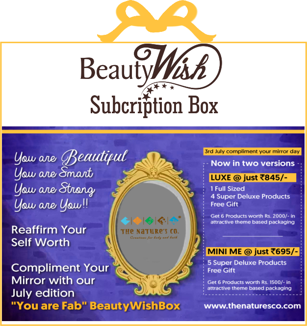 "Monthly Subscription from July'19 ""You are Fab"" LUXE  BeautyWish Box"