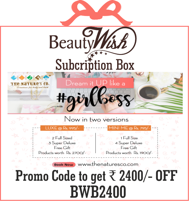 Annual Subscription from March 2019  #GirlBoss  LUXE BeautyWish Box