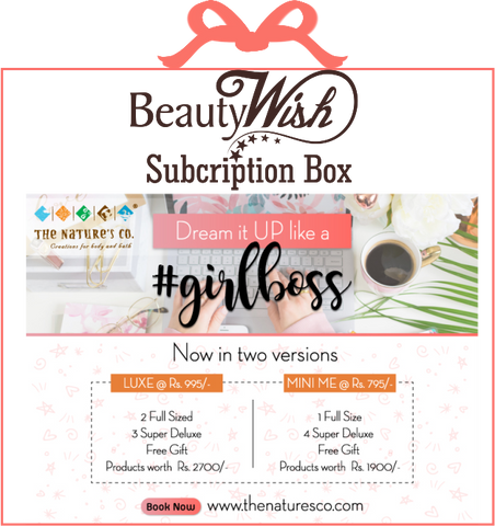 Monthly Subscription from March 2019  #GirlBoss  MINI ME BeautyWish Box