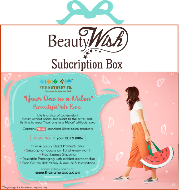 "Monthly Subscription from March ""Your One in a Melon"" BeautyWish Box"