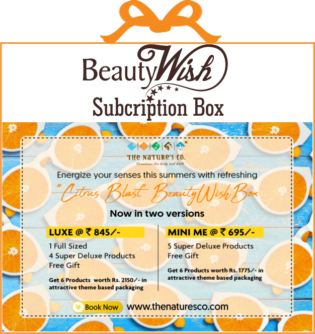 "Monthly Subscription from  May'19 ""Citrus Blast""  LUXE  BeautyWish Box"