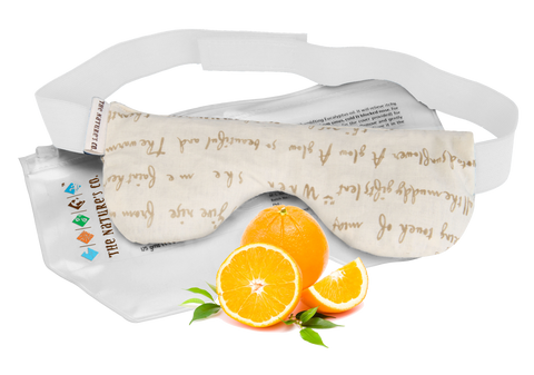 ORANGE EYE PILLOW WITH BAND (125 gm)