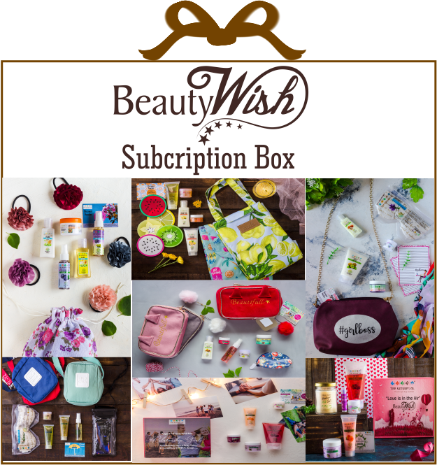 Half Yearly Subscription from  September'19  LUXE BeautyWishBox