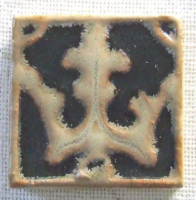 American Encaustic Tile Trident AETCO Arts & Crafts Art Pottery Antique Ohio