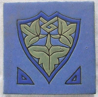 Vibrant Owens Empire Art Pottery Tile  Arts & Crafts Deco