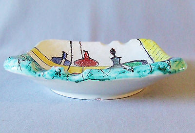 Early Bitossi Italian Art Pottery Bagni Style Ash Tray Coffee Table Good Friend